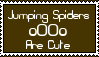 Stamp: Jumping Spiders Are Cute by LittleGreenGamer