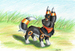 Yuu the Huskybreon by MattTheUmbreon