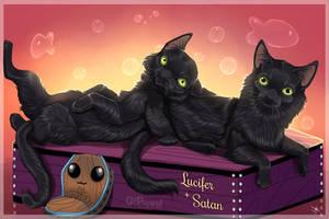 Satan + Lucifer | Black Cat Edition! by GoPuppy