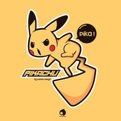 Pikachu Fan art by OukokuDesign