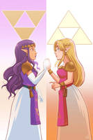 Hilda and Zelda by om-nom-berries