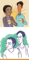 The Troy and Abed Bromance by raddishh