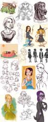 Sketchdump by raddishh
