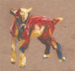 Baby goat study by AySquid