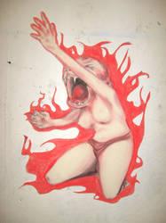 Screaming Monkeywoman by AySquid