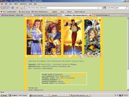Old website design: Tamora Pierce by jadedlioness
