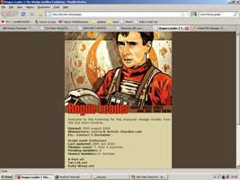 Old website design: Wedge Antilles by jadedlioness