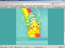 Old website design: Wish Bear by jadedlioness