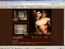 Old website design: Jacob, Leah and Seth by jadedlioness