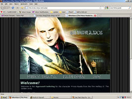 Old website design: Prince Nuada by jadedlioness