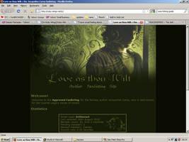 Old website design: Jacqueline Carey by jadedlioness