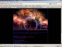 Old website design: Guy Fawkes Night by jadedlioness