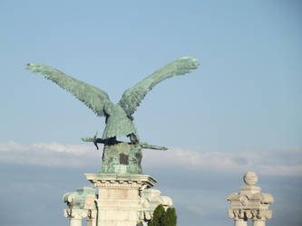 Budapest: Eagle Statue by jadedlioness