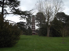 Kew Gardens: Chinese Pagoda #1 by jadedlioness