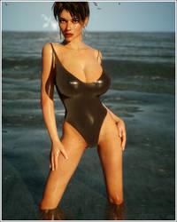 Gabrielle at the Beach by jjforte06