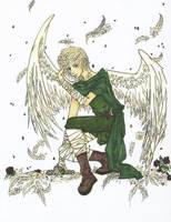 Art trade Sunfur -Angelic Dude by Loia
