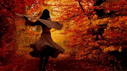 Autumn Morning Walk by krissybdesigns