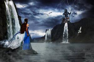 Maiden Worshiping Poseidon by krissybdesigns