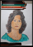 Mom (Pencil colors) by SpaniardWithKnives