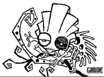 Karma Chameleon - Lineart by GrungeAntiHero