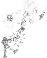 Gundam Sketches by GrungeAntiHero