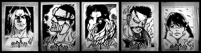 Bayan Knights Sketch Cards by RapidBlade