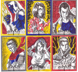 Bayan Knights Sketch Cards 2 by RapidBlade