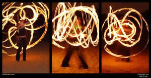 Fire twirling by neilcreek