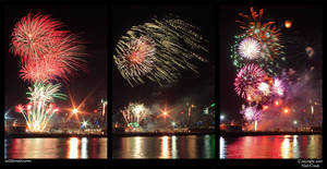 Docklands Fireworks NYE05 by neilcreek