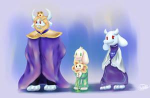 [undertale] goat family by Yukiriz