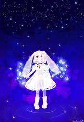 Rabbit and Star by warinmon
