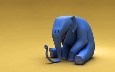 Blue elepfant by Pushok-12