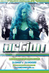 Free Action Club Flyer Template by AwesomeFlyer