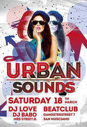 Free Urban Sounds Party Flyer Template by AwesomeFlyer