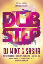 Free Dub Step Party Flyer Template by AwesomeFlyer