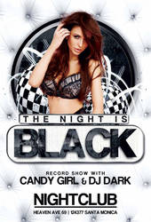 Free Black Night Club Party Flyer Template by AwesomeFlyer