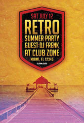 Free Retro Summer Party Flyer Template by AwesomeFlyer