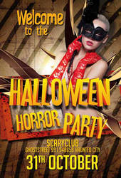 Free Halloween Horror Club Flyer Template by AwesomeFlyer
