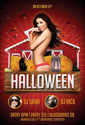 Free Halloween Party Flyer Template by AwesomeFlyer