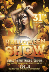 Free Halloween Show Flyer Template by AwesomeFlyer