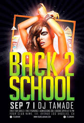 Free Back 2 School Party Flyer Template by AwesomeFlyer