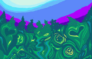 Bluskyhillstrees2 by JuliaWoodmanDesign
