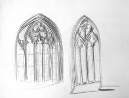 Bern: two gothic windows by Starsong-Studio
