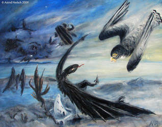 Earthsea: Flight from Oskill by Starsong-Studio