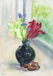 Tulips and Seaweed by Starsong-Studio