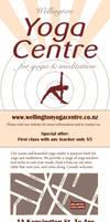 Yogacentre flyer by Starsong-Studio