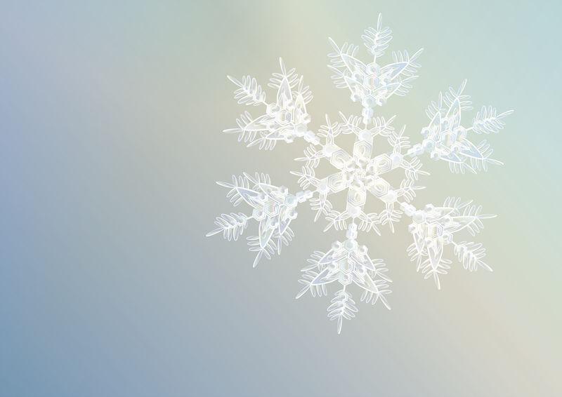 Snowflake - Xmas card design by Starsong-Studio