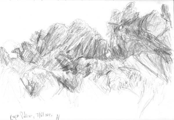 Cape Palliser rocks by Starsong-Studio