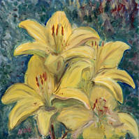 Yellow Lilies by Starsong-Studio