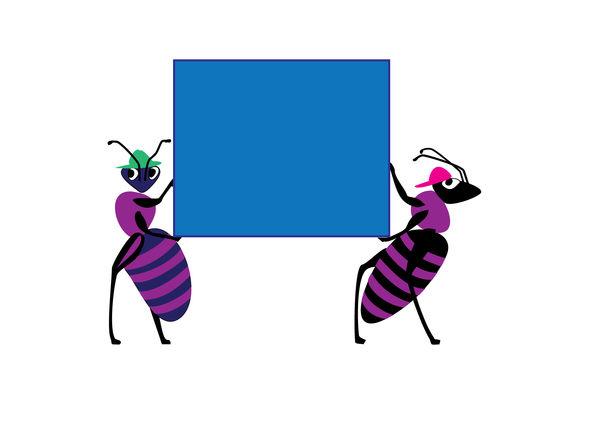 ants purple by Starsong-Studio